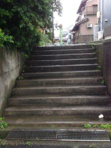 路地階段パート1 施工前