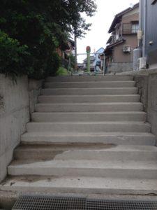 路地階段パート1 洗浄後