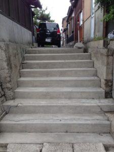 路地階段パート2 洗浄後