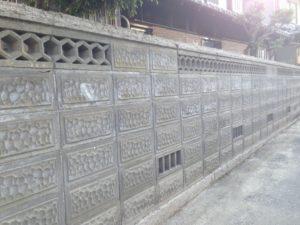 ブロック塀 その(1) 洗浄後