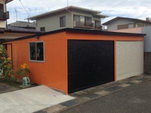 松岡様邸 車庫完成