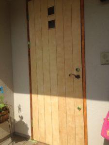 玄関扉 旧塗膜除去