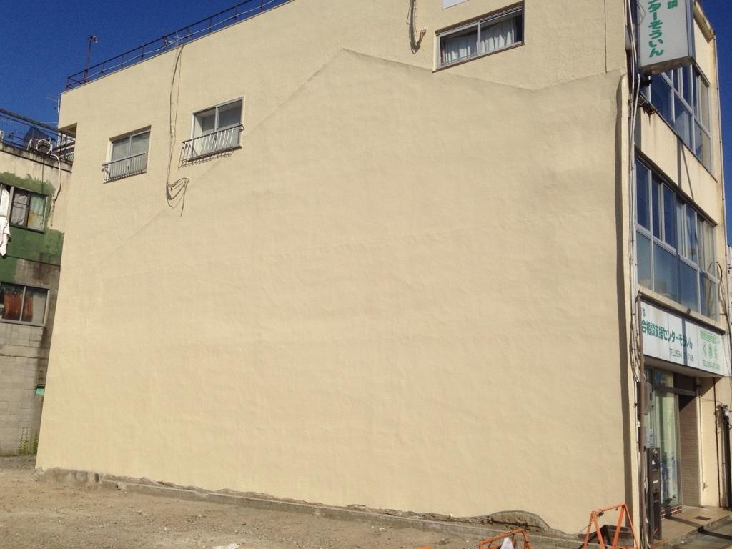 ブロック壁補修塗装後