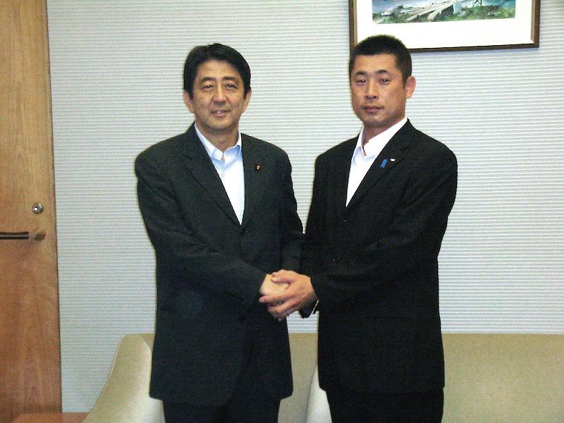 安倍首相との写真